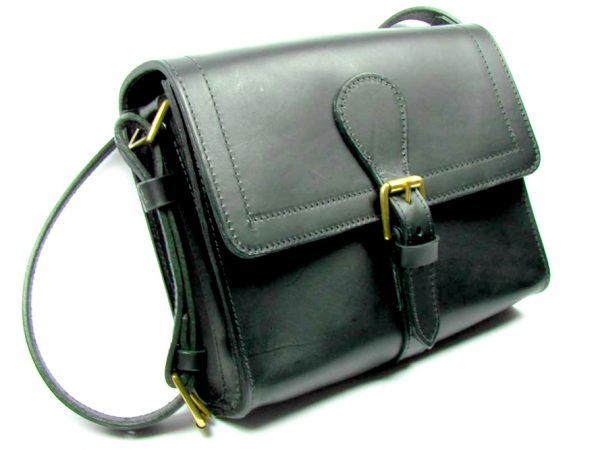 Small Satchel - front - black