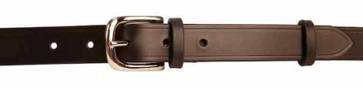 "Italian Shoulder Leather 1"" Black Leather Belt"