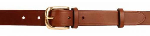 "Italian Shoulder Leather 1"" Mid Brown Leather Belt"