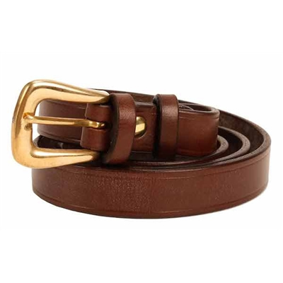 0.75 inch Dark Brown Oak Bark Bridle Leather Belt