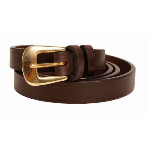 0.75 inch Extra Dark Brown Oak Bark Bridle Leather Belt