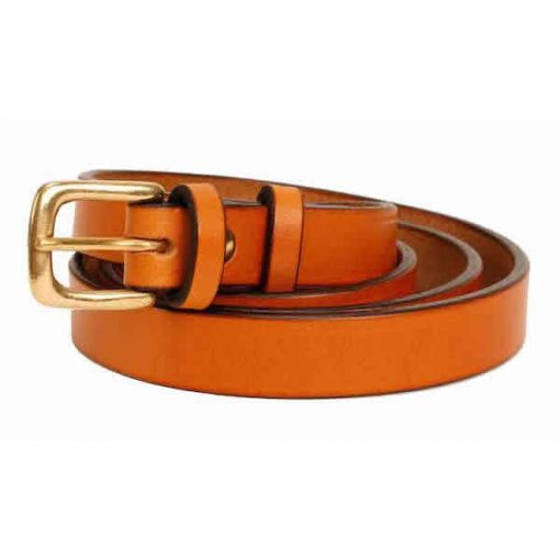 0.75 inch London Tan Oak Bark Bridle Leather Belt