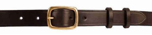 1 inch Extra Black Oak Bark Bridle Leather Belt