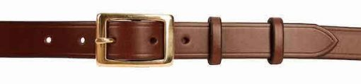 1 inch Dark Brown Oak Bark Bridle Leather Belt