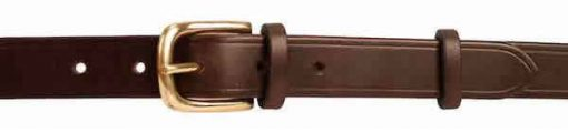 1 inch Extra Dark Brown Oak Bark Bridle Leather Belt