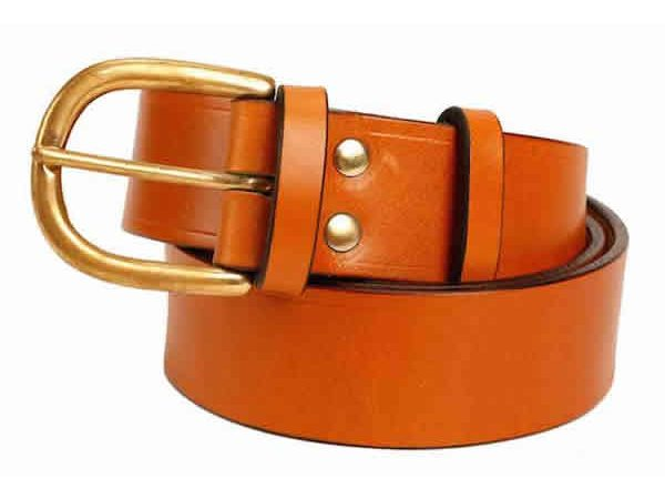 1.5 inch London Tan Oak Bark Bridle Leather Belt