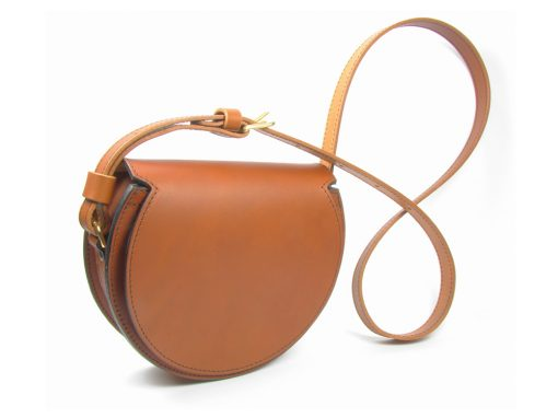 Round Evening Bag - Tan