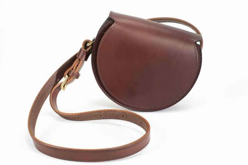 Round Evening Bag - brown
