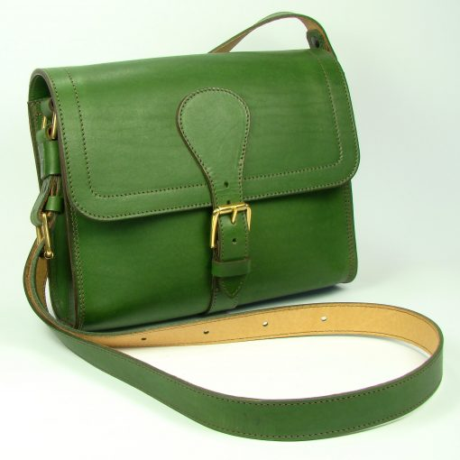 Small Satchel - front - green