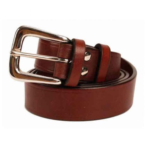 1.25 inch Australian Nut Oak Bark Bridle Leather Belt