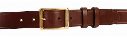 1.25 inch Dark Brown Oak Bark Bridle Leather Belt