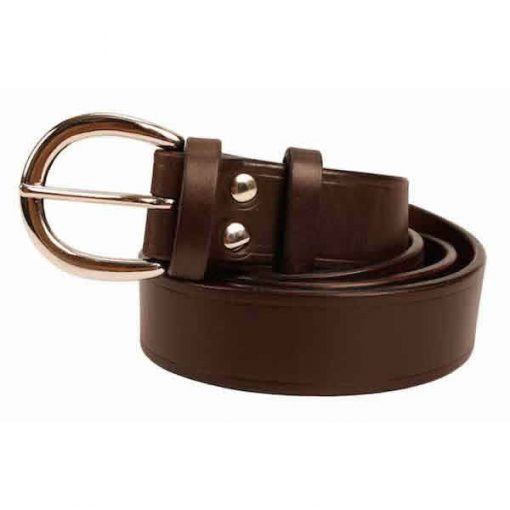1.25 inch Extra Dark Brown Oak Bark Bridle Leather Belt