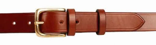 1.25 inch Mid Brown Oak Bark Bridle Leather Belt