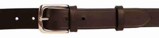 """Italian Shoulder Leather 1.25"""" Black Leather Belt"""