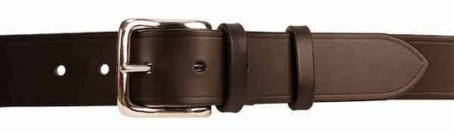 "Italian Shoulder Leather 1.5"" Black Leather Belt"