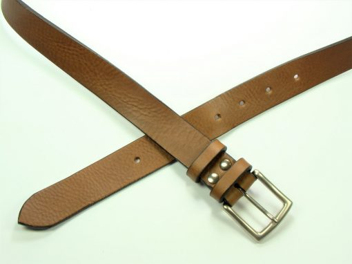 Contemporary Leather Belt - 30mm - grainy tan