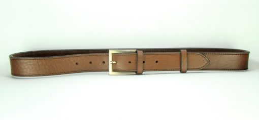 Contemporary Leather Belt - 35mm - grainy tan - stitched