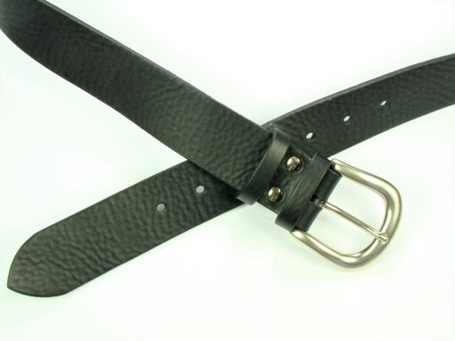 Contemporary Leather Belt - 40mm - grainy black